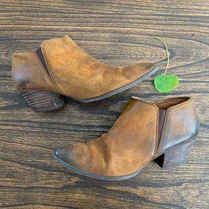 Franco Sarto Gemini Leather Ankle Booties
